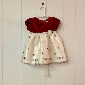 Youngland party dress red velvet